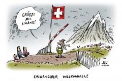 schwarwel-karikatur-einwand-schweiz-willkommenskultur