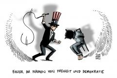 schwarwel-karikatur-folter-freiheit-demokratie-us-usa-amerika