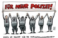 schwarwel-karikatur-polizei-legida-verbot-versammlungsfreiheit