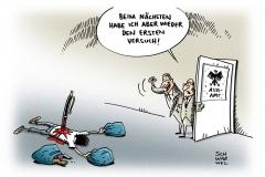 schwarwel-karikatur-asyl-asylsuchende-fluechtlinge-gefluechtete-politik-deutschland