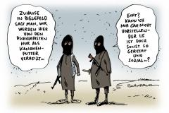 schwarwel-karikatur-is-islamischer-staat-dschihadisten-ausbildung-islam-terrormiliz