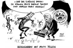 schwarwel-karikatur-fed-eiertanz-zinserhoehung