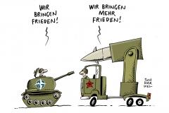 schwarwel-karikatur-affront-russland-waffen-panzer-frieden