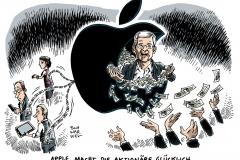 schwarwel-karikatur-apple-aktionaere-ausschuettung