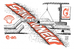 schwarwel-karikatur-eon-gazprom-sanktionen