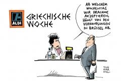 schwarwel-karikatur-griechische-woche-drachme-aldi-griechenland