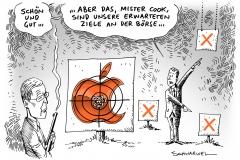 schwarwel-karikatur-apple-boersenkurs-boerse