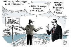 schwarwel-karikatur-suezkanal-aegypten-praesident-