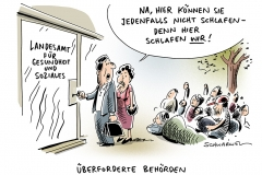 schwarwel-karikatur-lageso-fluechtlinge-fluechtlingskrise