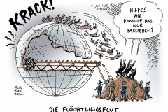 schwarwel-karikatur-flut-fluechtlingskrise-fluechtlinge