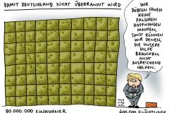 schwarwel-karikatur-asylpolitik-merkel-fluechtlinge-fluechtlingskrise