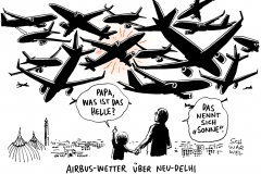 schwarwel-karikatur-airbus-flugzeug-neudehli-indien