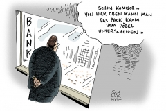 schwarwel-karikatur-bank-heidenau-gewalt-rechts-rechtsextremismus-asysuchende