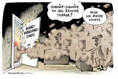 schwarwel-karikatur-terror-verfassungsschutz-rechtsterrorismus-fluechtlinge