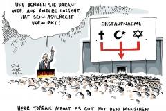 schwarwel-karikatur-erstaufnahme-asylrecht-bundesarbeitsgemeinschaft-toprak-muslime