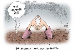 schwarwel-karikatur-merkel-wirschaffendas-fluechtlinge-politik