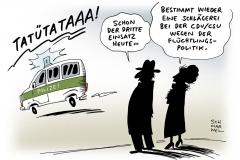 schwarwel-karikatur-polizei-cdu-csu-fluechtlinge