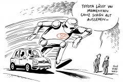 schwarwel-karikatur-toyota-vw-autohersteller-weltweit