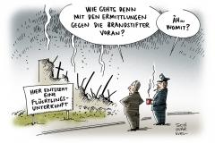 karikatur-schwarwel-fluechtlinge-brandstifter-fluechtlingsheim-ermittlungen