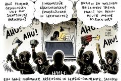 karikatur-schwarwel-leipzig-connewitz-hools-hooligans-ahu-ueberfall-1101-11012016