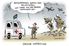 karikatur-schwarwel-syrien-krieg-un-hilfslieferung-hilfe
