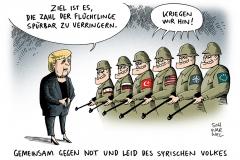 karikatur-schwarwel-syrien-merkel-flüchtlinge-eu
