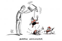 karikatur-schwarwel-erpresser-ransom-software