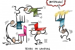 karikatur-schwarwel-wahl-spd-cdu-afd-dielinke-grüne-landtag