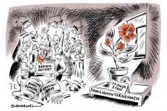 karikatur-schwarwel-börsennotiert-unternehmen-familienunternehmen