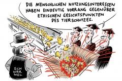 karikatur-schwarwel-schredder-kueken-mord-massentoetung-tierhaltung