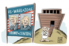 karikatur-schwarwel-clinton-trump-wahl-us-usa
