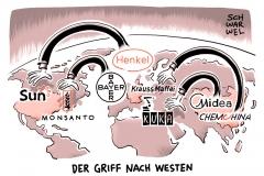 karikatur-schwarwel-unternehmen-konzern-firma-bayer-monsanto-henkel