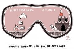 karikatur-schwarwel-datenbrille-post-brieftraeger