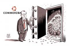 karikatur-schwarwel-niedrigzins-zinsen-commerzbank-gewinn