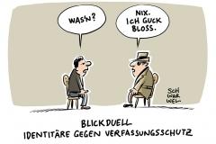 karikatur-schwarwel-rechtsextrem-verfassungsschutz-identitaere-bewegung