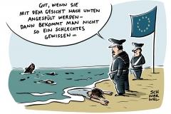 karikatur-schwarwel-fluechtlinge-gefluechtete-mittelmeer-tot-tod-eu-europaeische-union