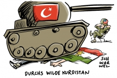 karikatur-schwarwel-us-usa-amerika-tuerkei-kurdistan-kurden-syrien-krieg-konflikt