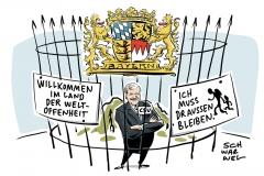 karikatur-schwarwel-horst-seehofer-bayer-csu-weltoffenheit-fluechtlinge-politik