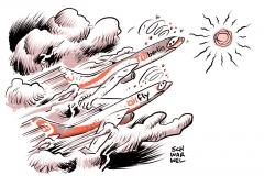 karikatur-schwarwel-tui-berlin-air-fly-flugzeug