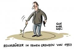 karikatur-schwarwel-reichsbuerger-polizei-polizist