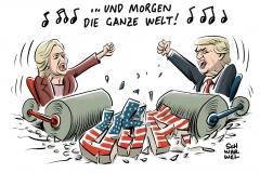 karikatur-schwarwel-us-usa-wahl-clinton-trump-praesidentschaftswahl