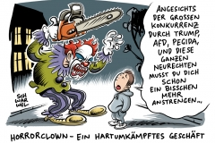 karikatur-schwarwel-horrorclowns-trump-afd-neurechte