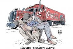 karikatur-schwarwel-aleppo-syrien-krieg-coca-cola-weihnachten