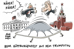 karikatur-schwarwel-trump-usa-russland-putin-kreml