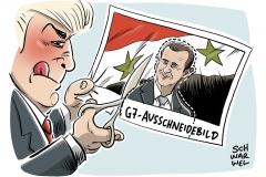 karikatur-schwarwel-assad-syrien-trump-g7-gipfel