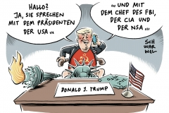 karikatur-schwarwel-trump-fbi-comey-us-usa-praesident
