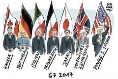 karikatur-schwarwel-g7-gipfel-trump-merkel-politik-politiker