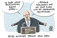 karikatur-schwarwel-g20-gipfel-hamburg-rote-flora-linksextrem-rote-flora-schanzenviertel-altmaier-cdu