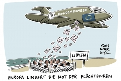 karikatur-schwarwel-fluechtlinge-gefluechtete-fluechtlingskrise-libyen-vergewaltigungen-lager-kz-konzentrationslager