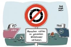 Hilfsorganisationen stoppen Einsätze im Mittelmeer: Libysche Küstenwache richtet eigene Rettungszone ein – verbunden mit Drohung gegen Flüchtlingsretter